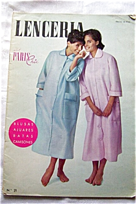 1950's LENCERIA PARIS CHIC Fashion Magazine (Image1)