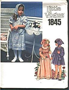 VOGUE LITTLE Girls Dress Sz 2Transfer PATTERN (Image1)