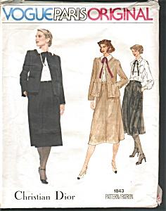 Vogue Paris  Dior Pattern Outfit Uncut SZ 12 (Image1)