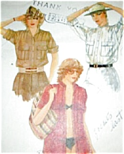 1970s Vogue Military Shirt Pattern (Image1)