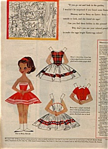 1958 Betsy McCall Paper Doll UNCUT EASTER EGG (Image1)