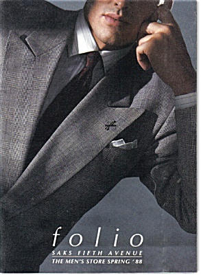 1988 SAKS Fifth Avenue Catalog MEN's FASHIONS (Image1)