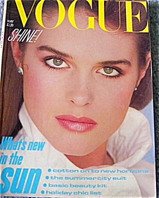 UK Vogue Magazine MAY 1982 Jackie Adams Cover (Image1)