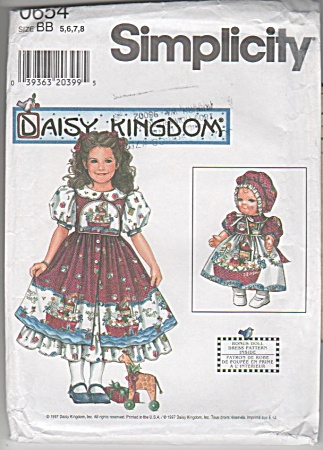 Simplicity 4296 - Oop - Daisy Kingdom Girls'dress