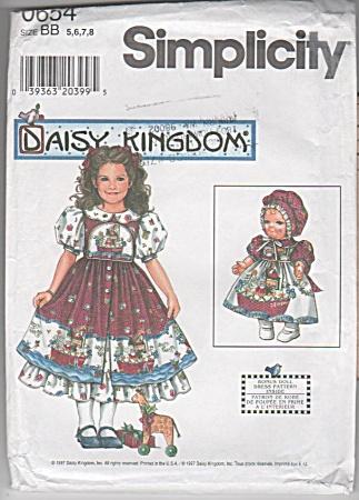 SIMPLICITY 4296~OOP~DAISY KINGDOM GIRLS'DRESS (Image1)