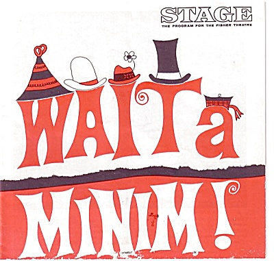 1967 WAIT A MINIM Theatre Program PONTIAC GTO (Image1)