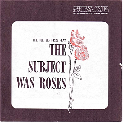Subject Was Roses Program Martin Sheen 1966