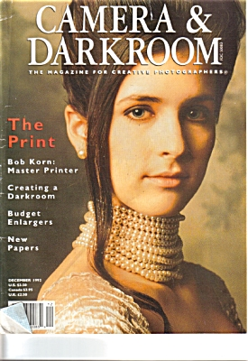 1992 Camera and Darkroom Magazine Bob KORN (Image1)