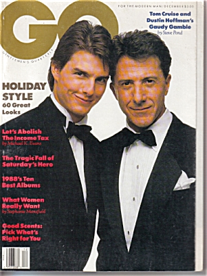 1988 GQ Men's Magazine Tom CRUISE Holiday (Image1)