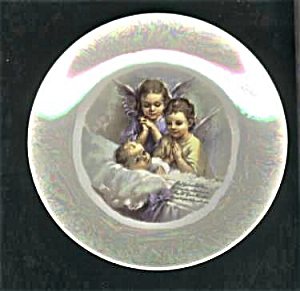 Cameo Limoges Finish Baby - Angels Plate