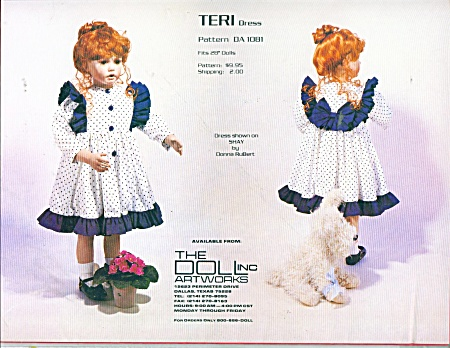 Donna Rubert Pattern For 28 Inch Shay Or Teri
