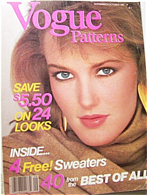 1981 VOGUE Pattern BOOK SEPT OCTOBER Magazine (Image1)
