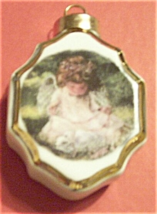 Little Angel Christmas Porcelain Ornament