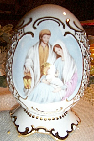 Famous Large Porcelain Egg - Nativity Scene