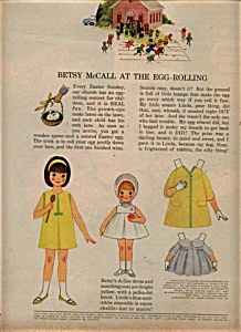 1964 Betsy McCall - Linda EGG ROLL Paper Doll (Image1)