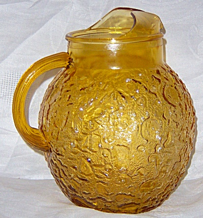 VINTAGE FIRE KING ANCHOR HOCKING HONEY GOLD LIDO Glass  (Image1)