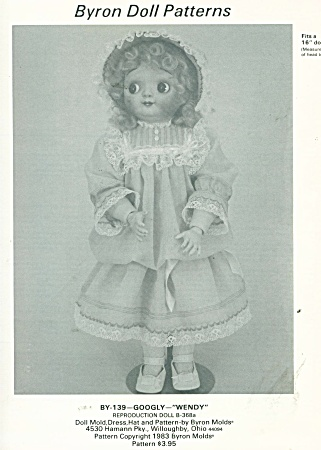 Dress And Hat Pattern For 16in Doll