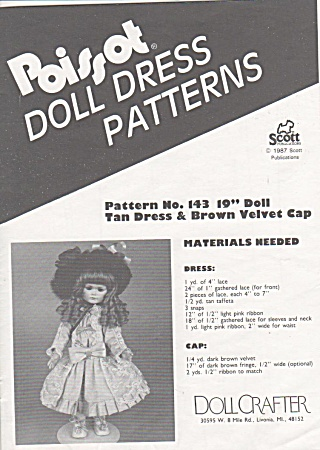 Poissot - (Dpp143) Doll Clothing Pattern - 19inch