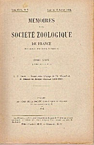 Memoires De La Societe Zoologique De France - Jan.1932