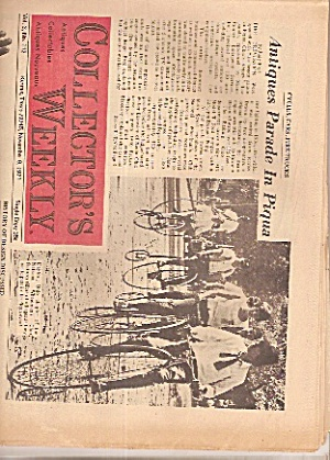 Collector's Weekly Newspaper - Nov. 9, 1971