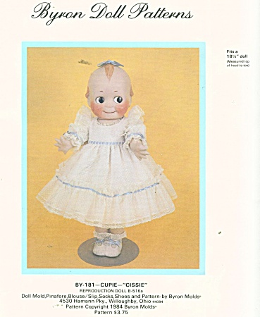 Byron Doll Clothes Pattern 18 1/2 In Doll