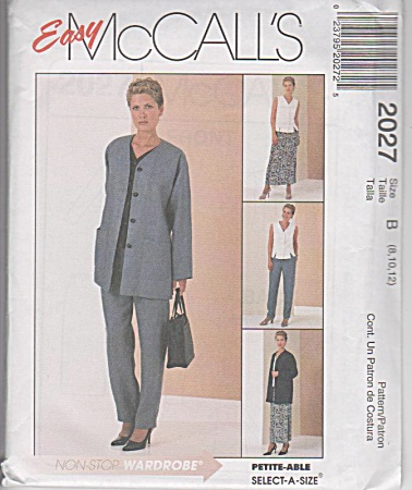 Mccalls 2027 - Cardigan - Top - Pants - Skirt - Oop