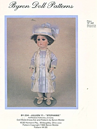 BYRON PATTERN 204 ~ 14 IN DOLL OUTFIT (Image1)