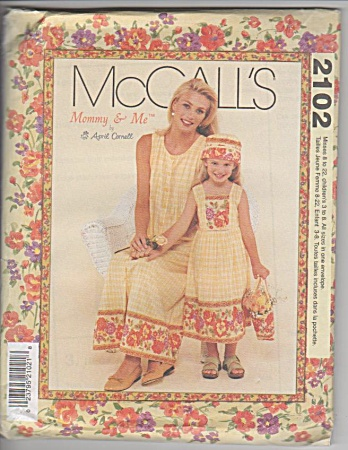 MCCALL~MOMMY & ME~SEWING PATTERN~SUMMER DRESS (Image1)