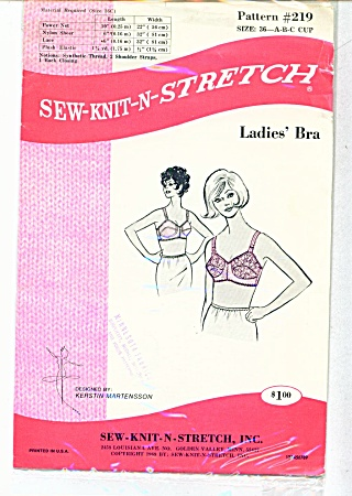 Kwik Sew Ladies Bra Pattern Sz 36 A B&C Uncut (Image1)