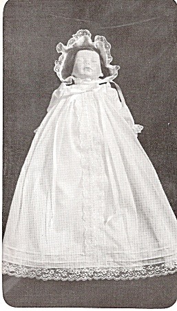 Bell Body Christening Gown And Bonnet - 15 Inch