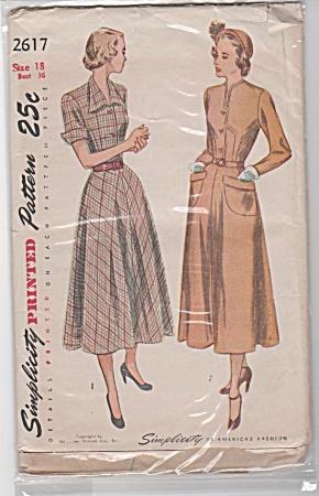 VINTAGE~1940s~LADIES DRESS~SZ 18~36 BUST (Image1)