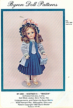 DOLL 131/2IN~DAY DRESS~BRYON PATTERN 288 (Image1)