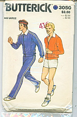 Vintage Butterick  Men's Jacket, Pants shorts (Image1)