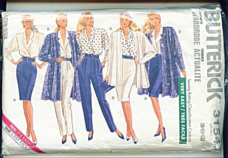 BUTTERICK LADIES WARDROBE EASY 3154 (Image1)