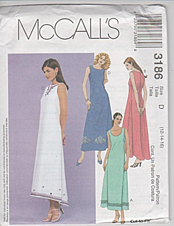 Mccall - Sleeveless Dress W/ Hem Variations - Sz