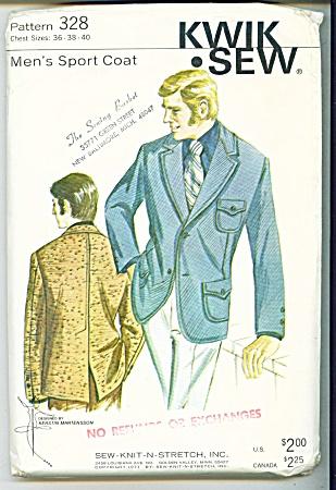 VINTAGE~1971~ MENS SPORTCOAT PATTERN~SZ 36-40 (Image1)