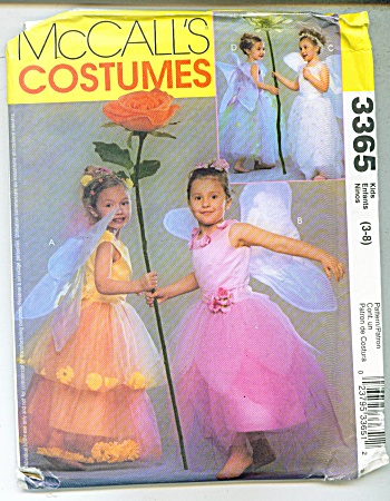 McCALL'S COSTUME PATTERN 3365 (Image1)