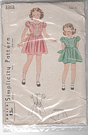 1940~Simplicity~Girls dress~Size 4~OOP (Image1)