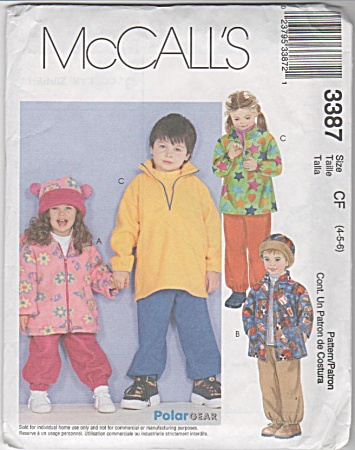 Mccall Kid's Jackets, Top, Pants And Hat4-5-6