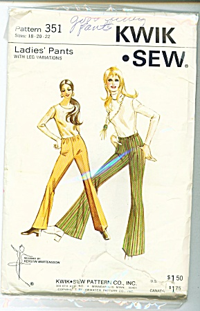 VINTAGE KWIK'SEW~LADIES PANTS~SZ 18-22 (Image1)