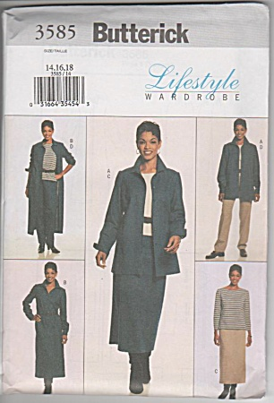 BUTTERICK 3585~EASY PLUS SIZE WARDROBE~14-18 (Image1)