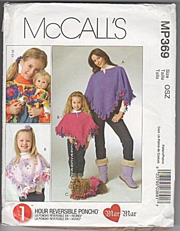 Poncho - Girls - Dolls - Dogs - Oop - Htf