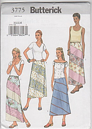 New - Butterick - Misses - Skirt Pattern - 3775 - Uncut