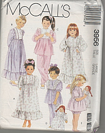 McCall's~Large~Children~3956~UNCUT (Image1)