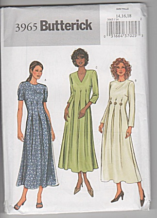 Butterick - 3965 - Misses Dress - Sz 14-18 - Uncut