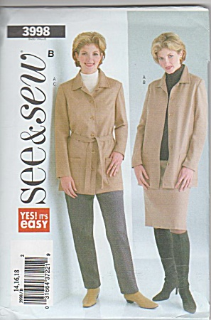 Butterick - Misses 16-18 - Outfits - 3998 - Uncut