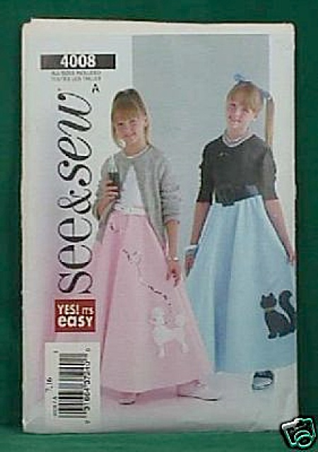 Flared 50s Skirt/petticoat Costume - Skirt