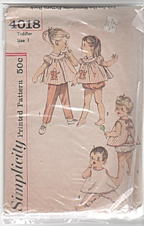 VINTAGE TODDLER TOP PANT APRON PANTIES PATTER (Image1)