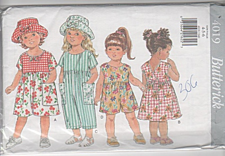 GIRLS~SZ4-5-6~PLAYCLOTHES~BUTTERICK~EASY (Image1)