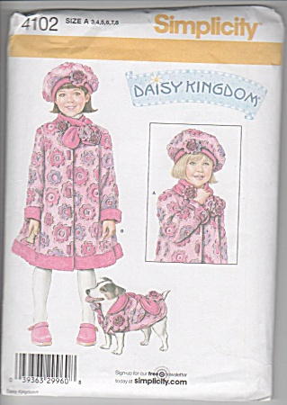 Daisy Kingdom - Girls Coat - Scarf - Hat - Dog Coat-